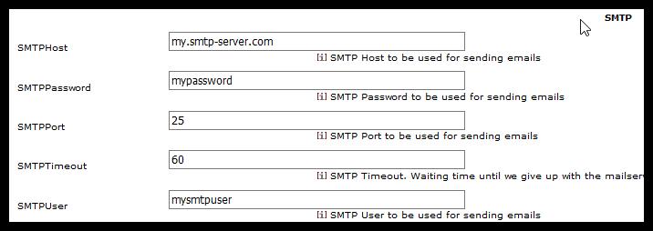 Configure a Mail/SMTP Server