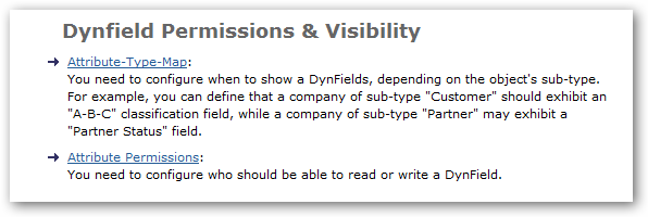 Dynfield Permissions and Visibility
