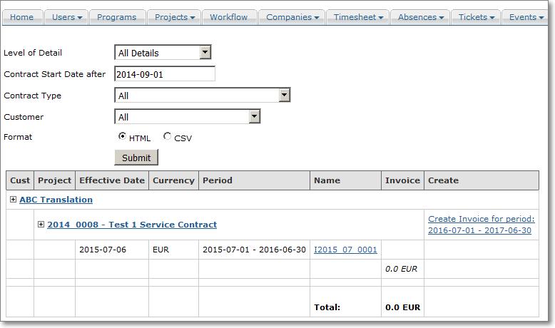 invoicing service