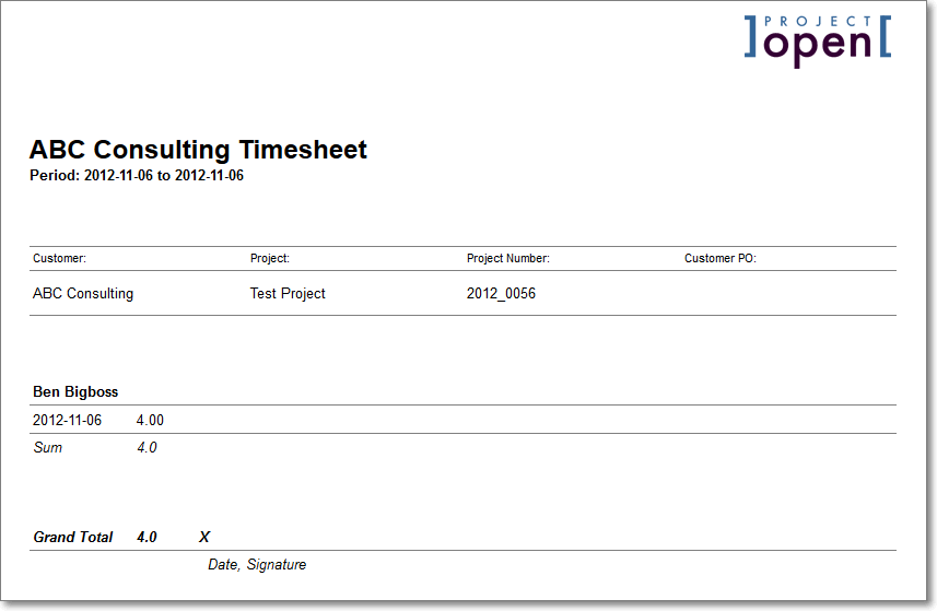 Project Invoicing - Timesheet and invoice
