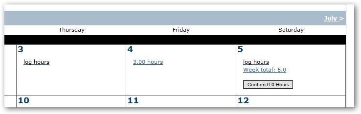 timesheet hours